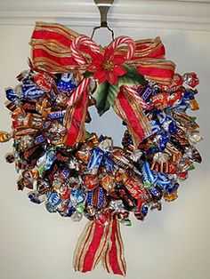 [Christmas Wreaths] Artificial Christmas Wreaths For A Stunning Holiday Decoration >>> Check out the image by visiting the link. Artificial Christmas Wreaths, Christmas Wreaths To Make, Christmas Makes, Christmas Gifts, Christmas Decorations, Christmas Projects, Christmas Ideas, Candy Wreath, Candy Bouquet