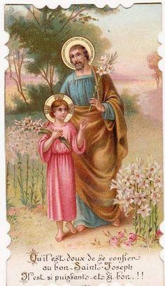 Sainte Therese, Catholic Pictures, Vintage Holy Cards, Christian Artwork, Religion Catolica, Saint Joseph, Roman Catholic, Virgin Mary, Jesus Christ