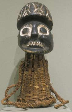 CAP MASK WITH HUMAN HEAD culture Unidentified people creation date 1900-1930