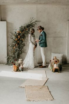 Warehouse elopement inspired by African textiles in Edmonton - 100 Layer Cake Elope Wedding, Chic Wedding, Wedding Ceremony, Dream Wedding, Wedding Dresses, Ceremony Arch, Wedding Rustic, Industrial Wedding, Wedding Themes