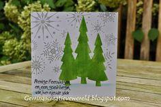 Gerrina's Creatieve Wereld: Snelle Kerstkaarten 3 / Quick Christmascards 3