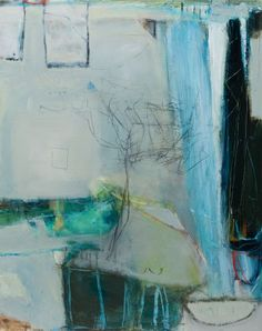 """""""The Sea in Pine Tops Murmuring"""" by David Mankin, mixed media on panel 120 x 95cm, £2400."""