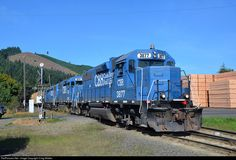 RailPictures.Net Photo: CBR 3877 Coos Bay Rail Link EMD GP38 at Noti, Oregon by Craig Walker
