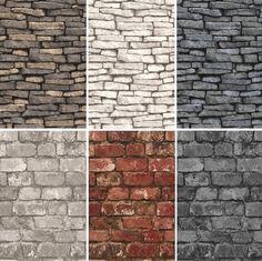 NEW LUXURY DISTINCTIVE BRICK WALL STONE ROCK SLATE EFFECT 10M WALLPAPER ROLL | eBay