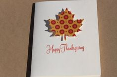 Thanksgiving Cards Set of 4 Fall Leaves by RoyalRegards on Etsy, $6.50