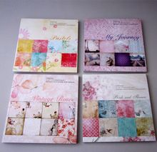 6 '' libre de ácido vintage de la flor / aves animales patrón decorativo Scrapbooking poner papel de 32 hoja impreso fondo arte de papel(China (Mainland))