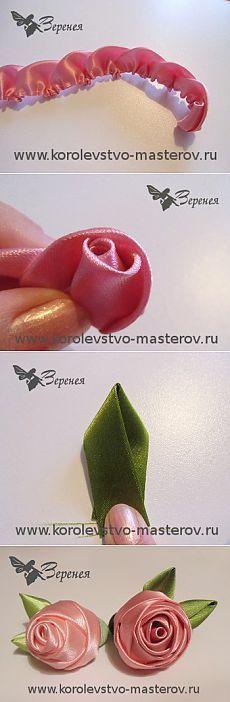 Роза из атласной ленты. Мастер-класс: Как сделать розу из атласной ленты своими…