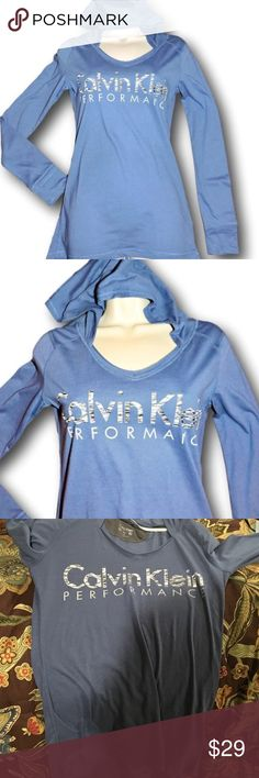Calvin Klein performance blue hooded top hoodie Brand new with tags. Size small. Comfy and cute. A great top to work out in, or just to throw on as you do errands around town. Calvin Klein performance blue hooded top hoodie. Calvin Klein Tops Sweatshirts & Hoodies