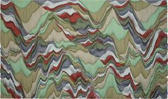 Ara Peterson Wave pack 2013 acrylic paint on wood