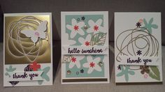 Stampin Up birthday, hello, thank you card. Paper Pumpkin February kit alternate cards with the scraps, cards by Gloria Kremer - Oakville demo 2016