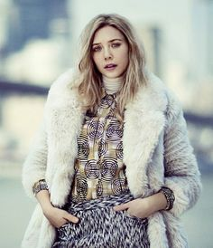 Furry coats and pattern mix #white #violet