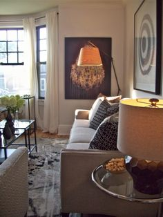 Living room, Income Property HGTV: artwork by Sarah Martin and Elsha Leventis