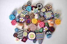 Destash 50 Polymer Clay beads Lot 4 via Etsy