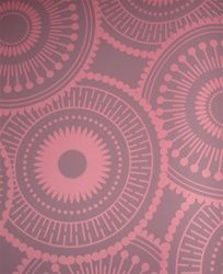 Bedroom wallpaper (in plum instead of red, which is not available)