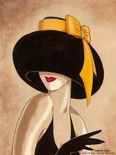 Женщина в шляпе чёрной. Обсуждение на LiveInternet - Российский Сервис Онлайн-Дневников