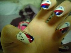 New York Rangers nails during their 2012 playoff run. My all-time favorite design I've done.