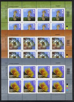 Cyprus Stamps SG 2013 Organisms of the Mediterranean marine environment - MINT (Full sheets 8 stamps per sheet). Cheaper than on eBay!