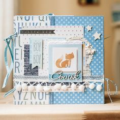 Дневник скрапоголика...: Альбом для новорожденного Mini Scrapbook Albums, Baby Scrapbook, Baby Boy Cards, Baby Memories, Memory Books, Baby Photos, Paper Crafts, Blog, Chipboard
