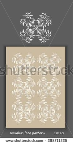 White seamless pattern lace vector texture background for all. Eps10.  - stock vector