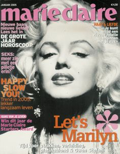 Marie Claire - January 2005, magazine from Belgium. Front cover photo of Marilyn Monroe by Gene Kornman, 1953