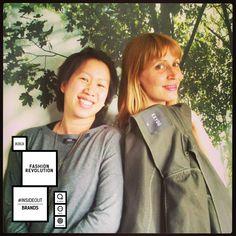 Carole Piette & Helene Long Conscients #FashionRevolutionDay #insideout