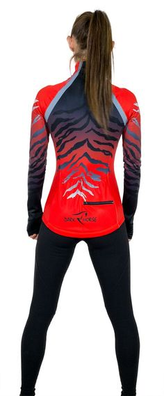 another ladies DARK HORSE winter cycling jersey ! Long sleeve jersey