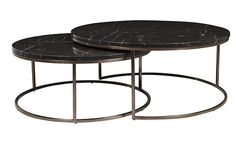 Globe West - Products - nest of tables 950 diam x 400 high 800 diam x 340 high Also in white marble