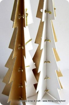 cardboard christmas trees with pattern