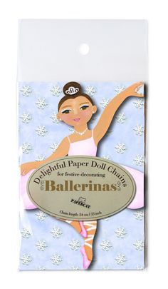 Delightful Paper Doll Chains - Ballerinas