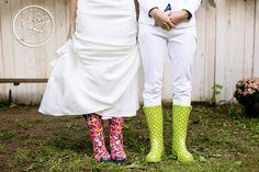 Seattle wedding photography   Amelia Soper Wedding Photographer, backyard, couple, brides, same sex, lesbian wedding, LGBT, rainboots