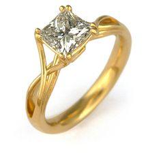 engagement ring diamond yellow gold modern Toronto