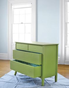 Great tips on how to paint old furniture.