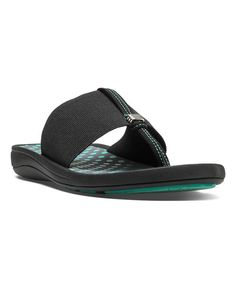 Look at this Cobb Hill Black Jeanine Flip-Flop on #zulily today!
