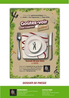 Dossier de Presse diner Goutezvoir chez Cézanne by Jean-Philippe Alfonsi via slideshare