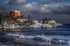 """Lighthouse at Marquette"" by johndecember, 2009 , Michigan Tourism, Michigan Travel, State Of Michigan, Lake Michigan, Marquette Michigan, Lighthouse Photos, Upper Peninsula, Lake Superior, Great Lakes"