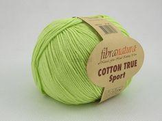 Włóczka Cotton Tru Sport kolor jasnozielony nr 107-05 Pasmanteria U Gaby