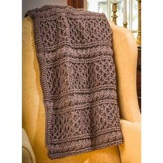 Downton Abbey Mrs. Hughes' Afghan - Free Crochet Pattern Download from Premier Yarns.