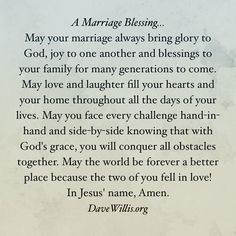 A Marriage Blessing