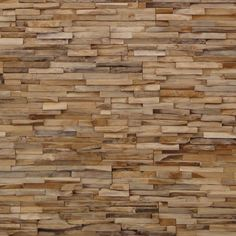 Wooden Wall by Wonderwall Studios. Real and authentic, partly recycled, wood. Must be a multu-sensory experience to have such a wall in a room.