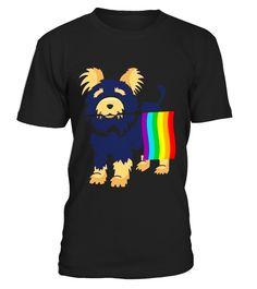 Gay Pride Yorkshire Terrier T-Shirt