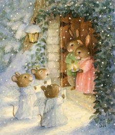 Christmas-Mice Angel Choir