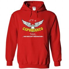 Its a Capobianco Thing, You Wouldnt Understand !! Name, - #groomsmen gift #gift card. GET  => https://www.sunfrog.com/Names/Its-a-Capobianco-Thing-You-Wouldnt-Understand-Name-Hoodie-t-shirt-hoodies-7893-Red-30721956-Hoodie.html?id=60505