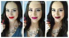 NYX Matte Lipsticks - New Shades 2014 Lip Swatches. L-R: Eden, Aria and Siren.