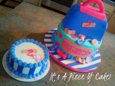 Doc McStuffins Themed cake, buttercream icing