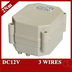 DC12V electric valve actuator, 3 wires(CR301) motorized actuator for valve with 2Nm torque force