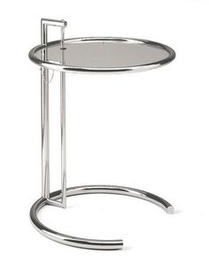The Eileen Gray Table was designed for Eileen Gray's famous E. 1027 house in Cap Martin, which highlights the rational designs for which Gray later gained notoriety. Originally the Eileen Gray Table w