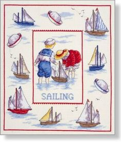 Sailing - Faye Whittaker Arts, All Our Yesterdays Cross Stitch and Original Art Wesbsite