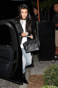 Sartorial display: Kourtney Kardashian, 37, stepped out in style enjoying a dinner date with friends at Gracias Madre vegan Mexican restaurant in Los Angeles on Wednesday