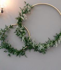 Diy crafts diy wedding decorations, bridal shower decorations, x Bridal Shower Decorations, Diy Wedding Decorations, Christmas Decorations, Deco Champetre, Greenery Wreath, Greenery Decor, Wedding Wall, Floral Hoops, Deco Floral