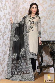 #Black #Cream Chiffon Casual Salwar Suit Online Collection 2016 #salwarsuit, #salwarkameez, #casual, #dailywear, #officewear, #churidar, #stylish, #formal, #dresses, #embroidered, #indianfashion, #salwarsuitonline, #discountoffer, #pavitraafashion More Product : http://www.pavitraa.in/store/churidar-salwar-kameez/ Any Query : Call / WhatsApp : +91-76982-34040 E-mail: info@pavitraa.in